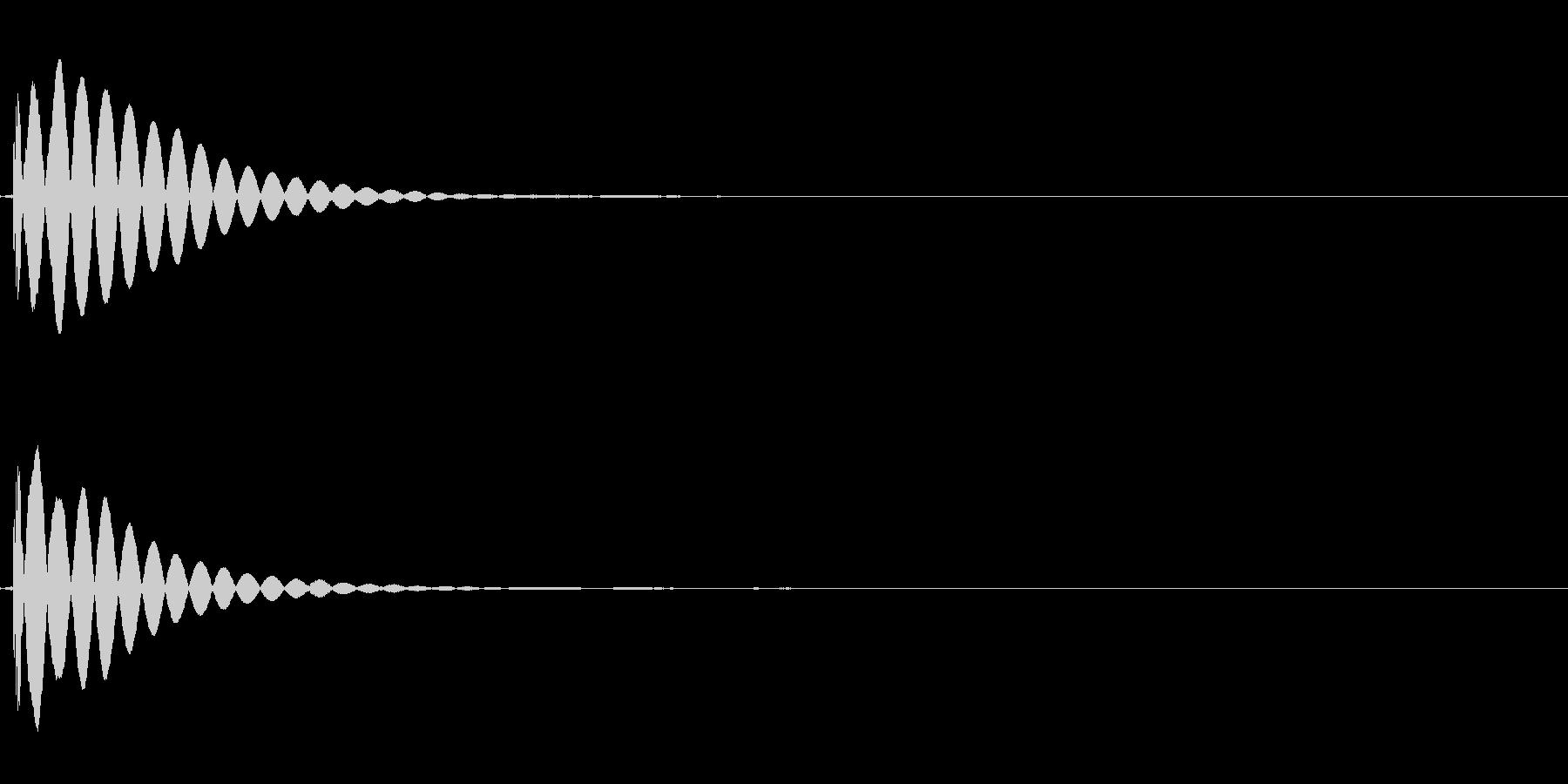 木琴の不協和音(アラーム)の未再生の波形