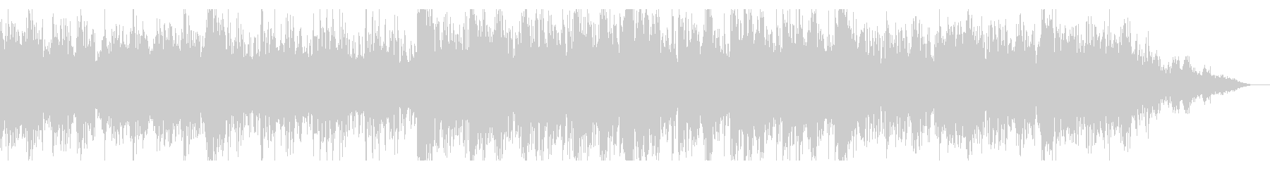 シネマティックなデジタルノイズのビートの未再生の波形