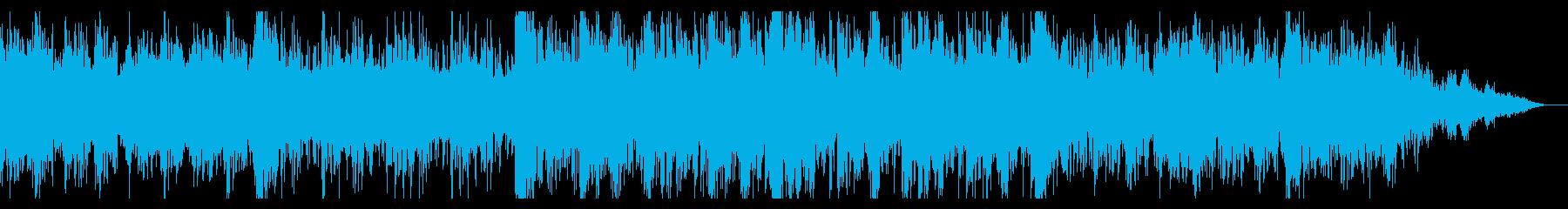 シネマティックなデジタルノイズのビートの再生済みの波形