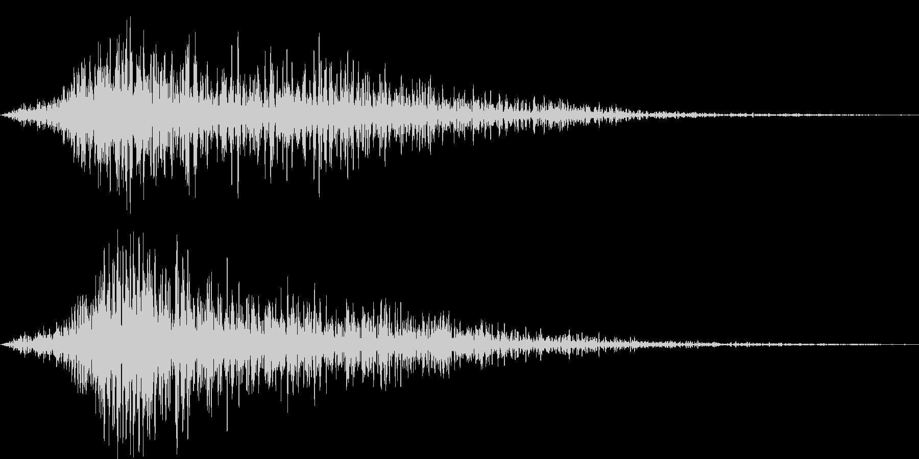 タイトル表記などの効果7の未再生の波形