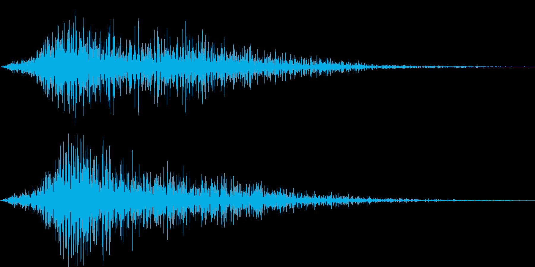 タイトル表記などの効果7の再生済みの波形