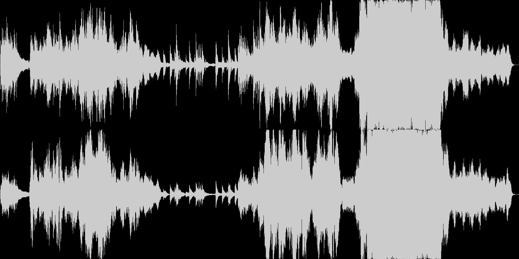 切ない感動的に盛り上げるオーケストラの未再生の波形