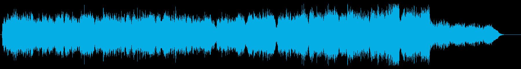 ホルンと弦の揚々感ある器楽曲の再生済みの波形