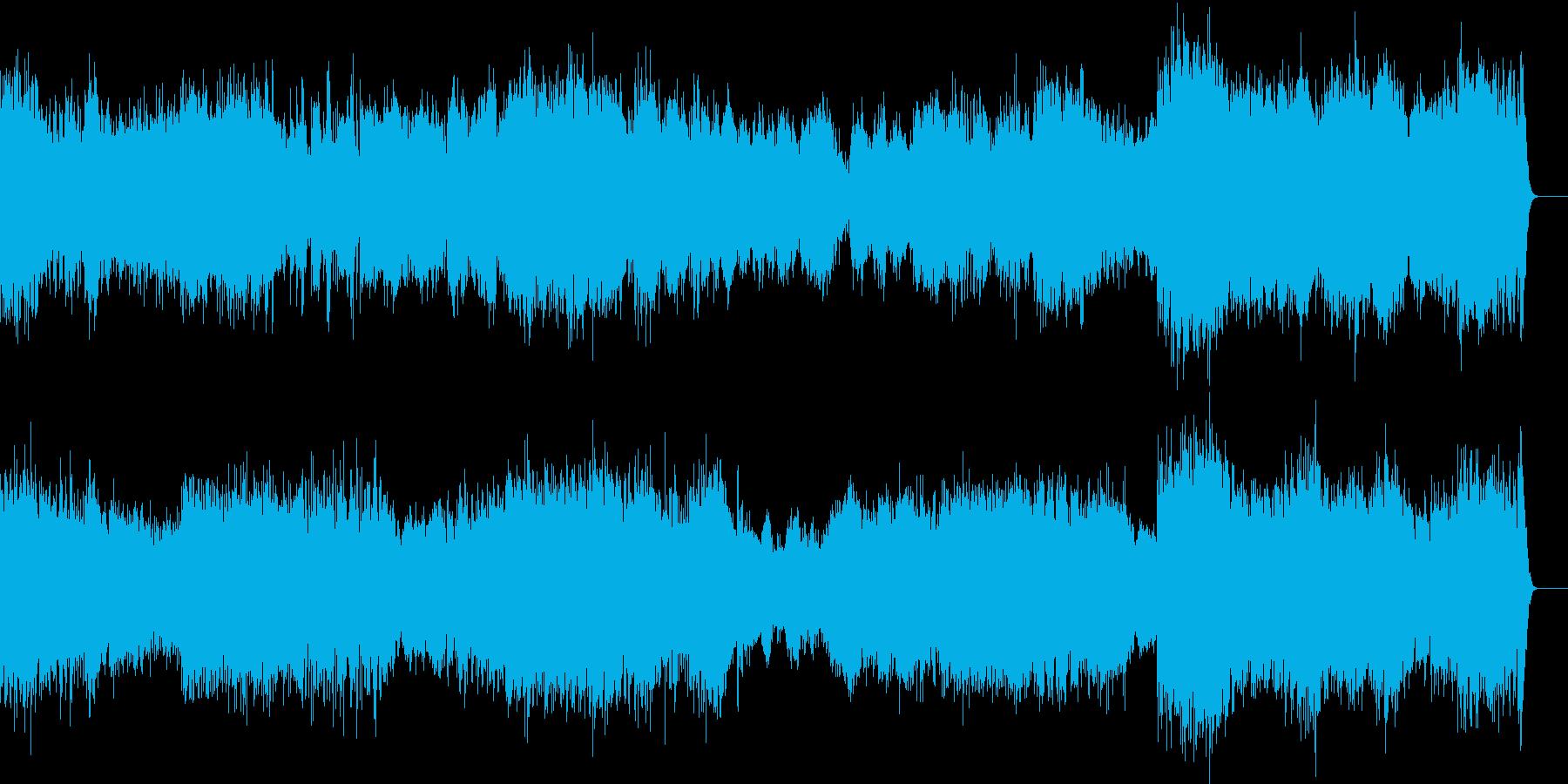 明るい吹奏楽の行進曲の再生済みの波形