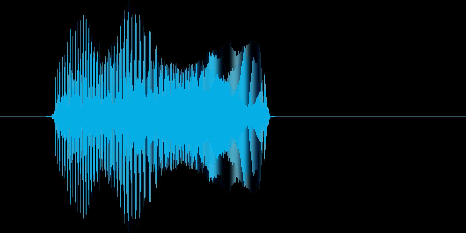 「オヨヨ」の再生済みの波形