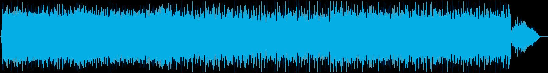 さわやか雰囲気のエレクトロBGMの再生済みの波形