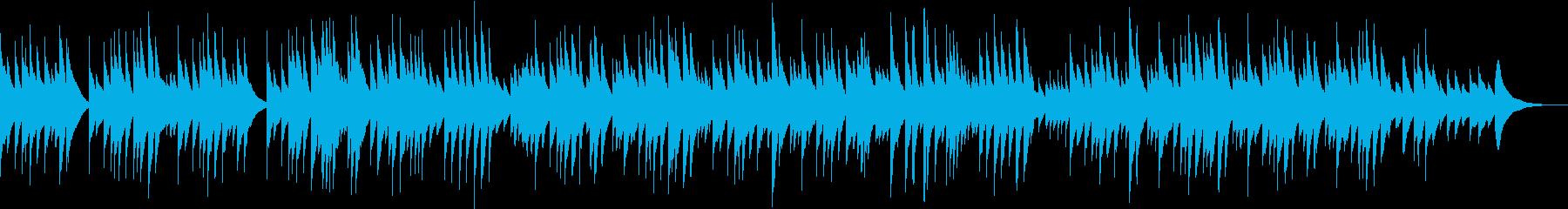 優しくて温かいオルゴール曲の再生済みの波形