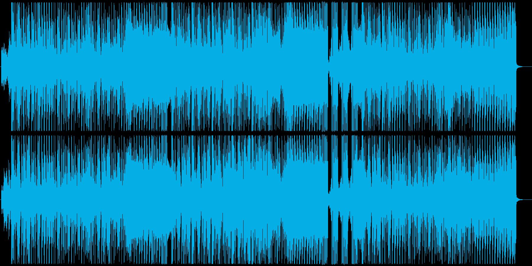 疾走感あるグルービーなリズムのBGMの再生済みの波形