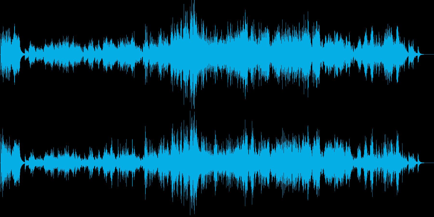 秋を感じるピアノバラードの再生済みの波形