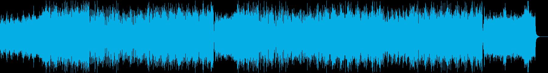 宇宙っぽいシンセとブラス・ピアノの融合の再生済みの波形