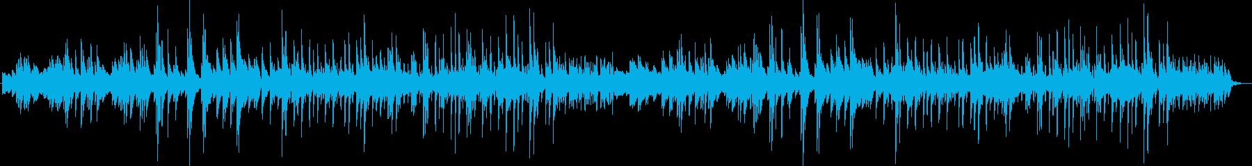 やさしいおだやかなシーン向けピアノ曲の再生済みの波形