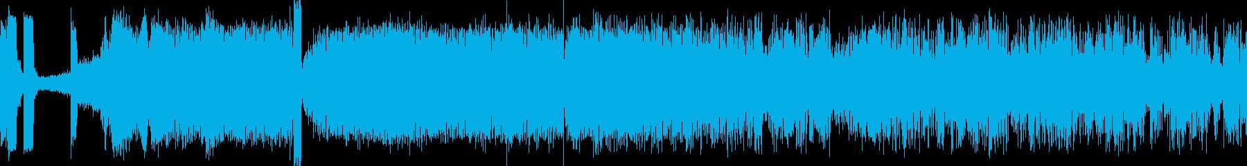 アラスカ鉄道スワード駅発車の音の再生済みの波形