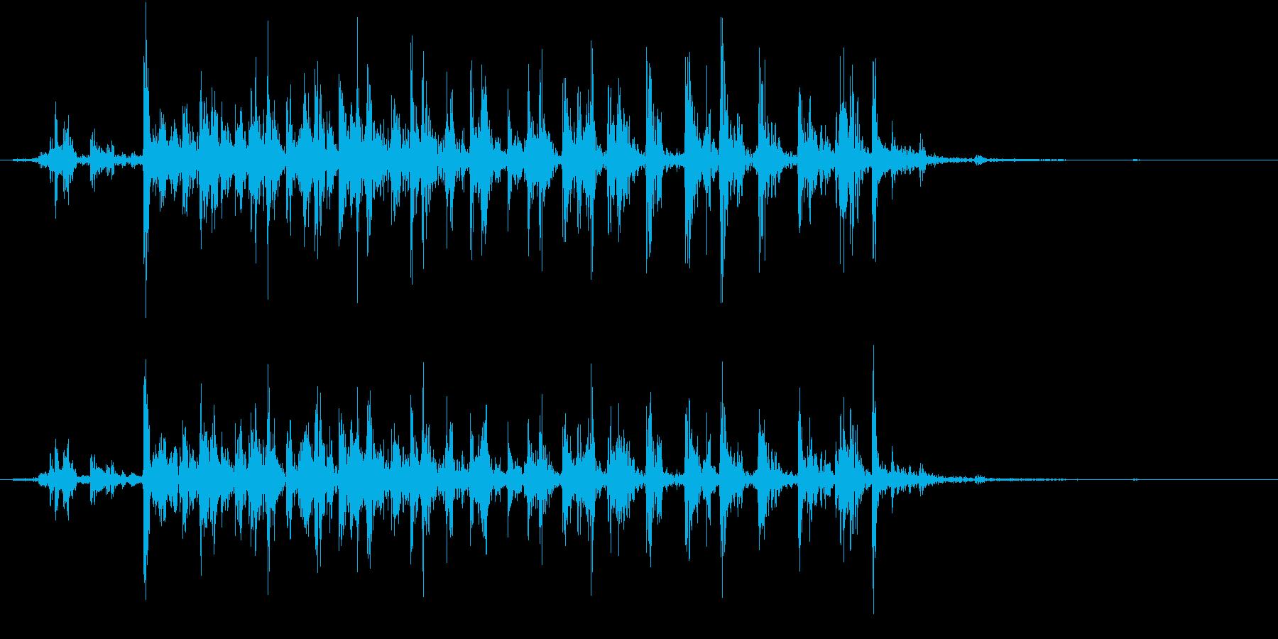 【生録音】カッターナイフの音 19の再生済みの波形