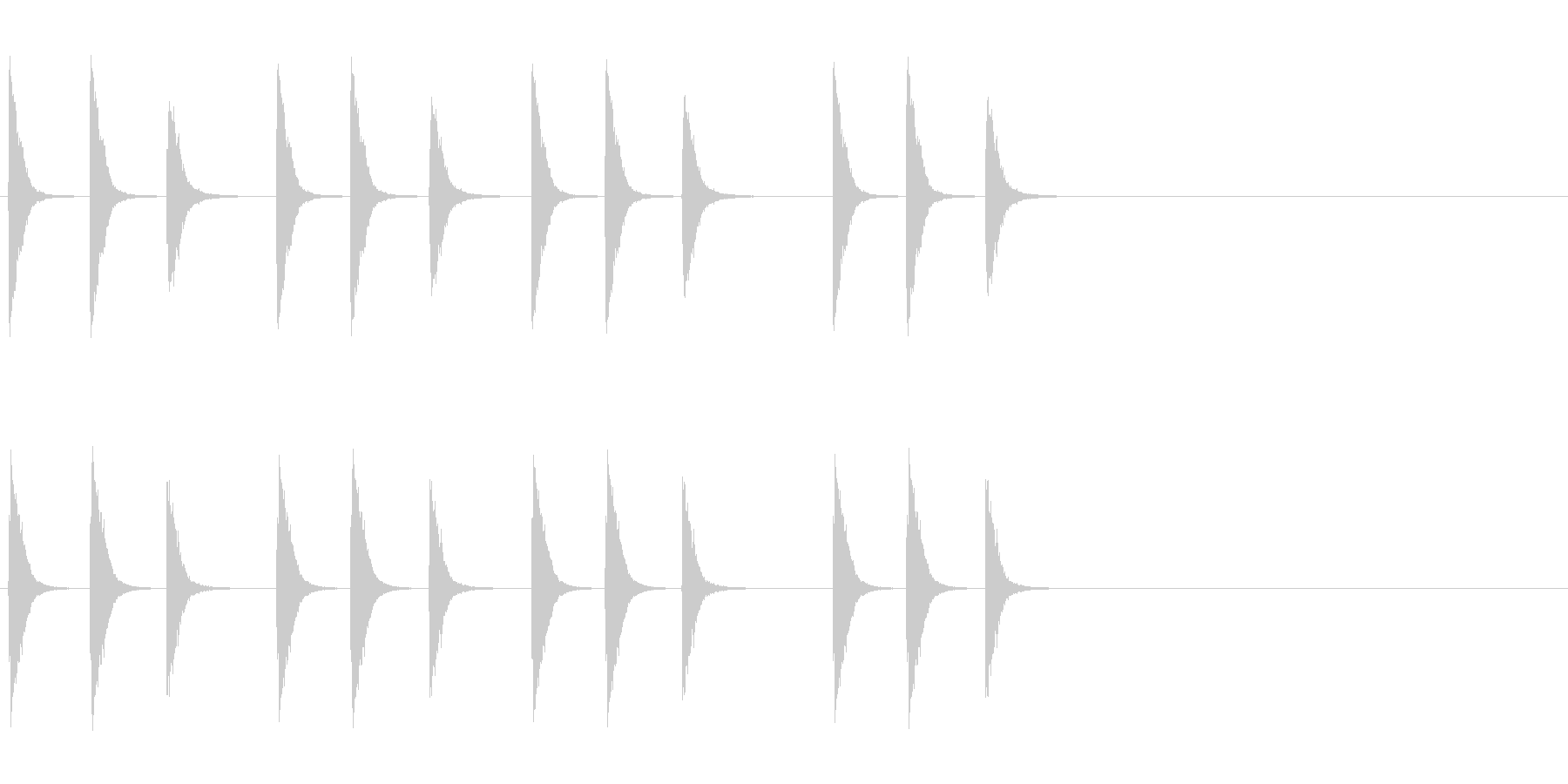 刀鍛冶の未再生の波形