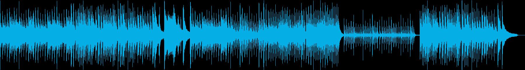 考え事してるようなピアノ曲の再生済みの波形