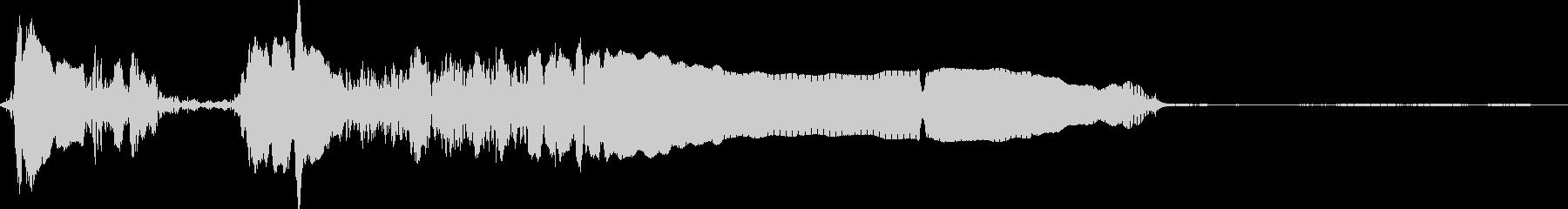 oster早朝のカラスの未再生の波形