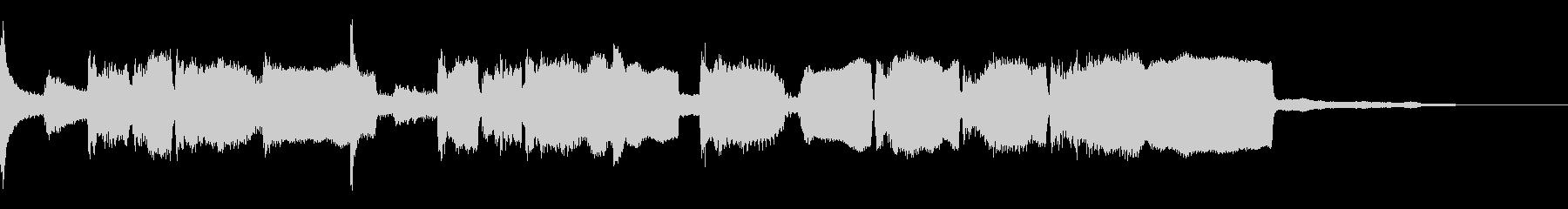 和風ジングル、篠笛、琴、のどかな田舎の未再生の波形