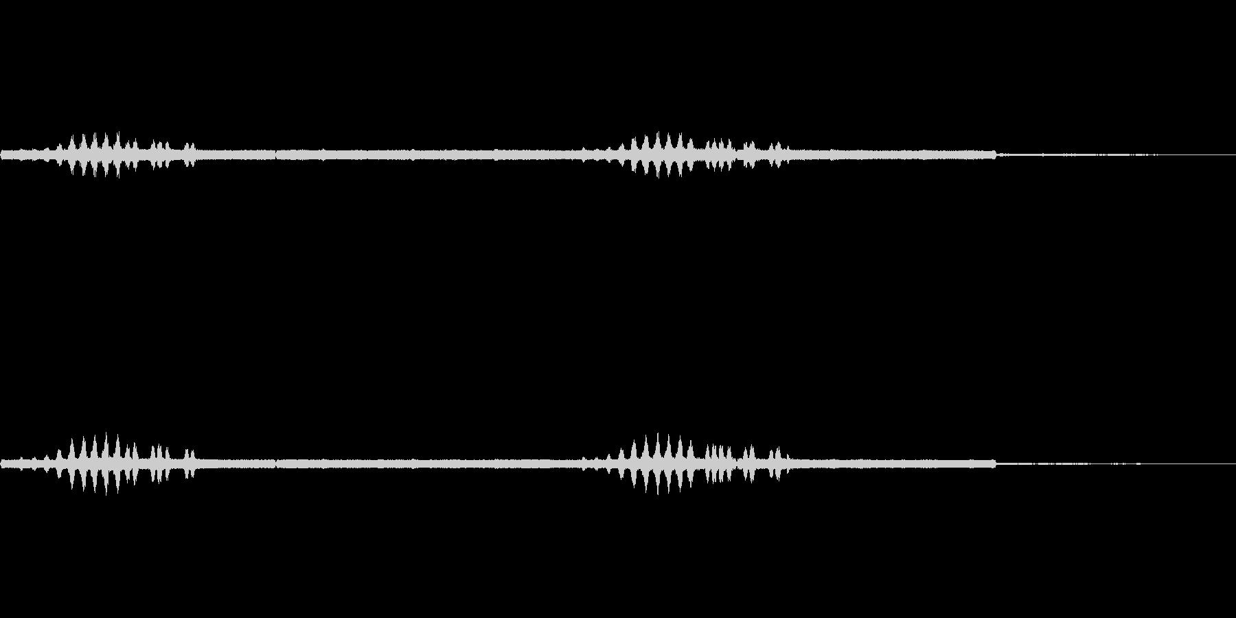 エンマコオロギの声2の未再生の波形