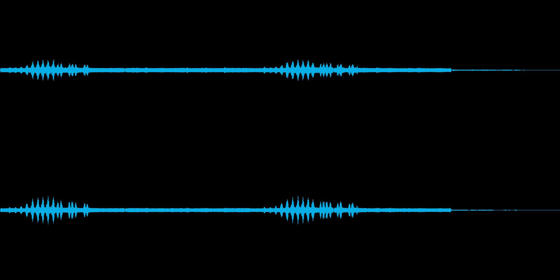 エンマコオロギの声2の再生済みの波形