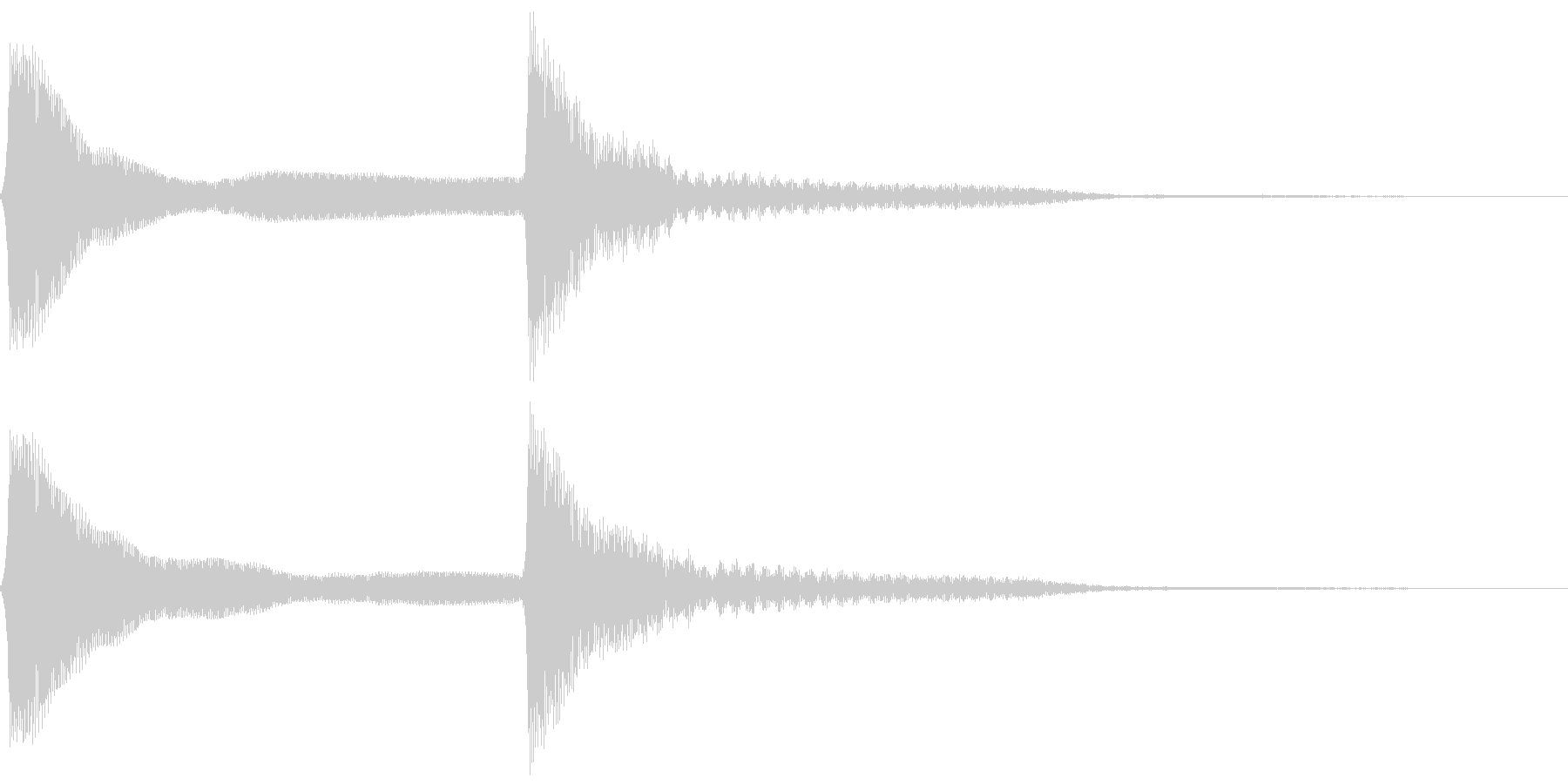ピーンポーン。クイズ回答・正解音(低)の未再生の波形