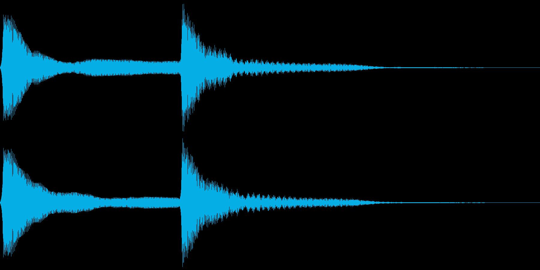 ピーンポーン。クイズ回答・正解音(低)の再生済みの波形