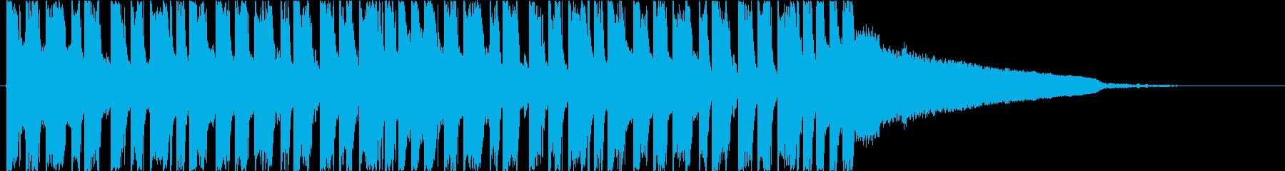 かっこいいEDM ベース クールの再生済みの波形