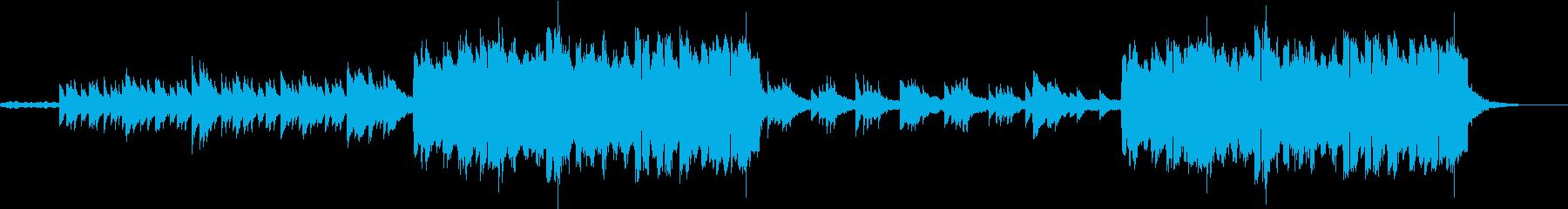 哀愁溢れるハープのケルト風BGMの再生済みの波形
