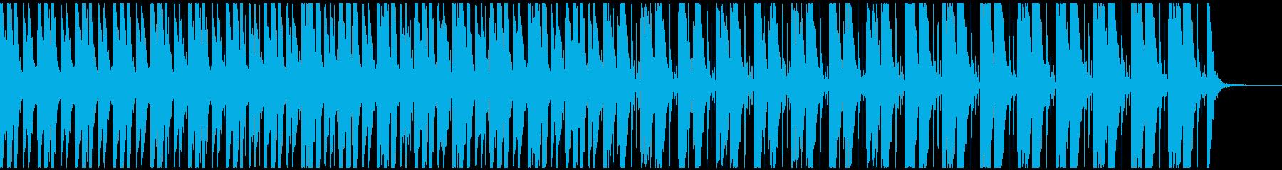 攻撃的で先進的な大迫力パーカッション曲の再生済みの波形