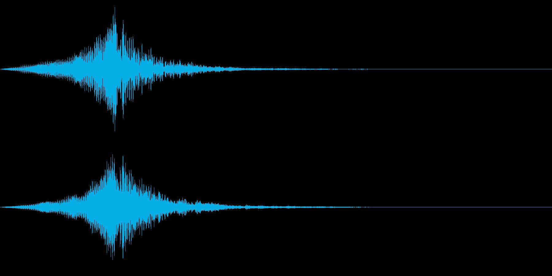 ホラー系アタック音90の再生済みの波形
