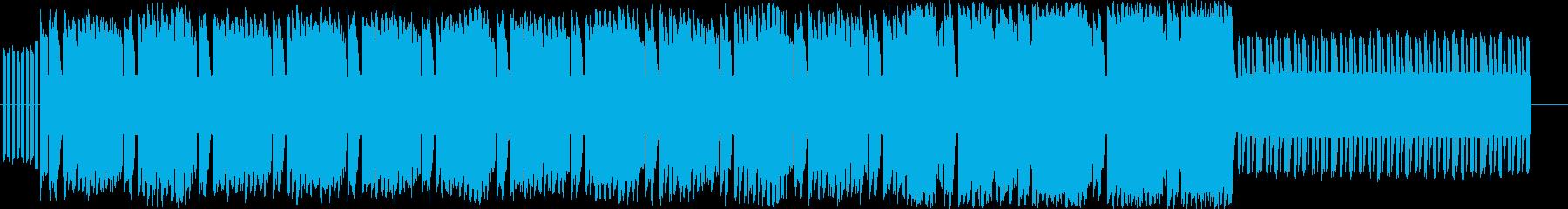 ファミコンレトロの単純なチップチューンの再生済みの波形
