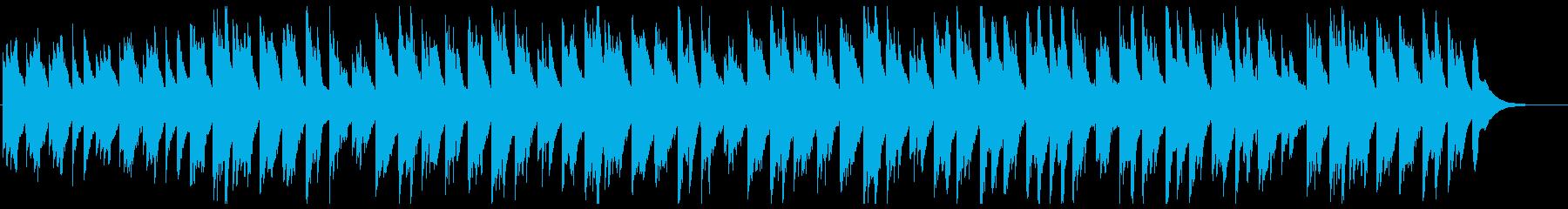琴とシンセが奏でるヒーリングミュージックの再生済みの波形