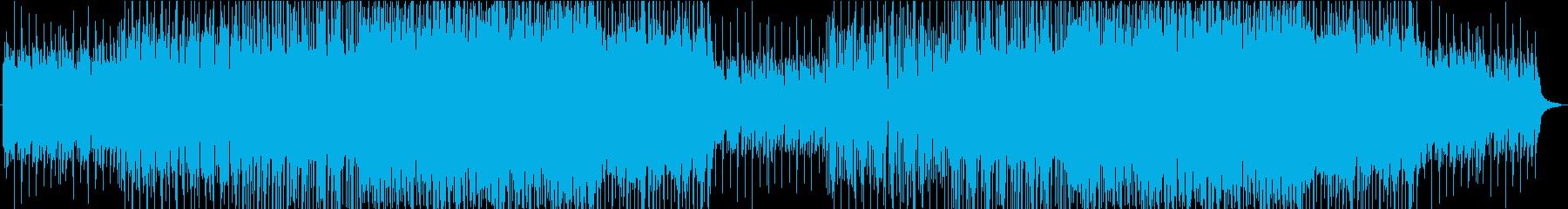 感動的で前向きになれる温かい楽曲の再生済みの波形
