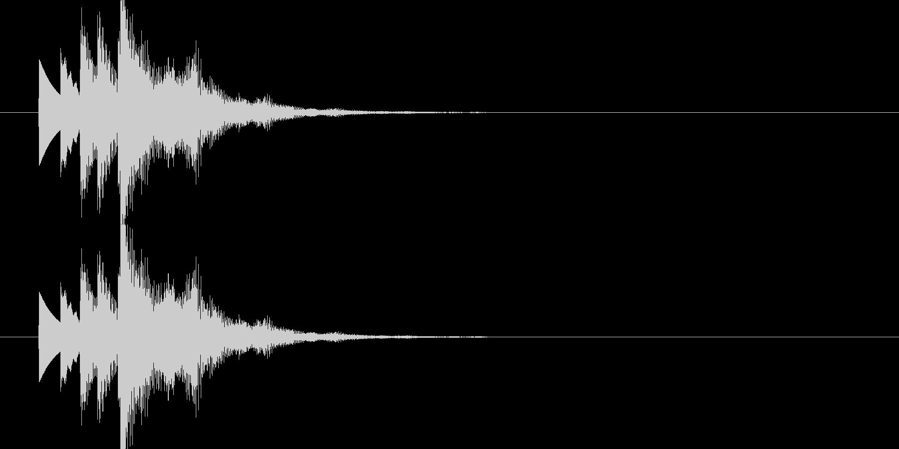 爽やかで未来的なシンセ起動 スタート音1の未再生の波形