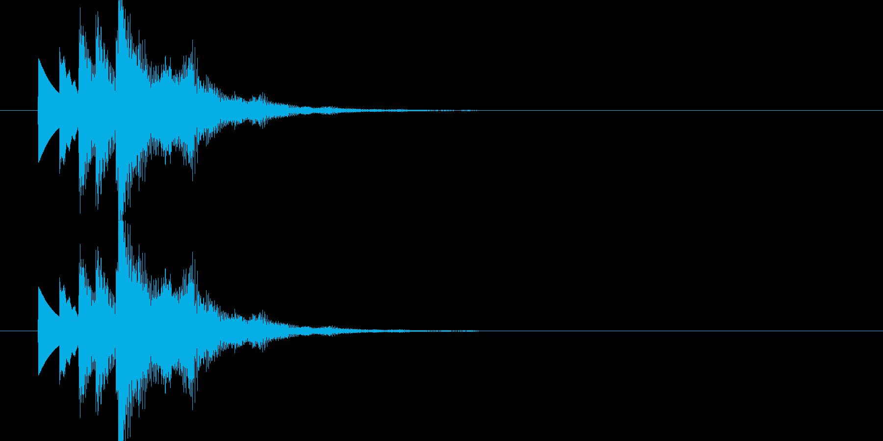 爽やかで未来的なシンセ起動 スタート音1の再生済みの波形