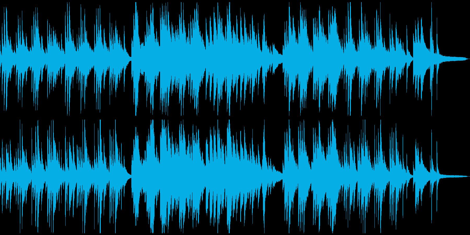 温かくロマンチックなピアノソロの再生済みの波形