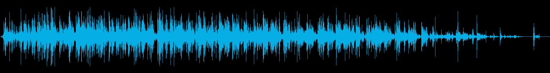 長いタンブリングジャンククラッシュの再生済みの波形