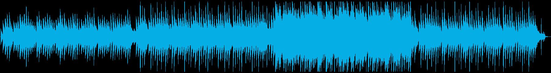 ピアノに合わせたシンセの旋律が哀愁的な曲の再生済みの波形