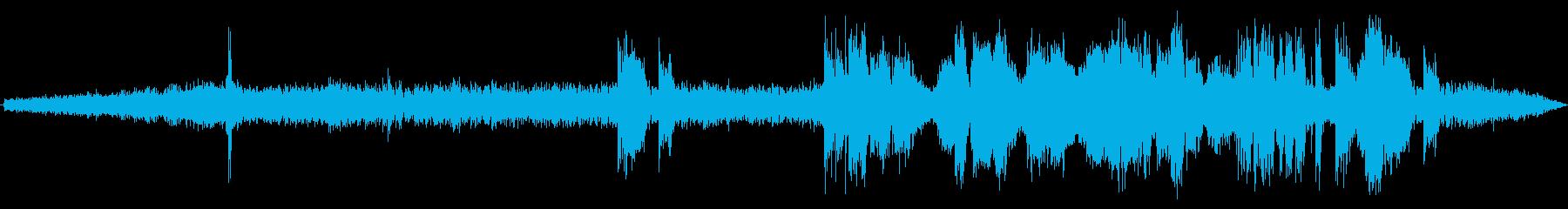 電子レンジの金属オブジェクトアーク...の再生済みの波形