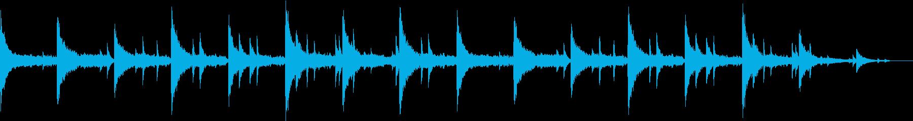 ほのぼのした感動的なバラードの再生済みの波形