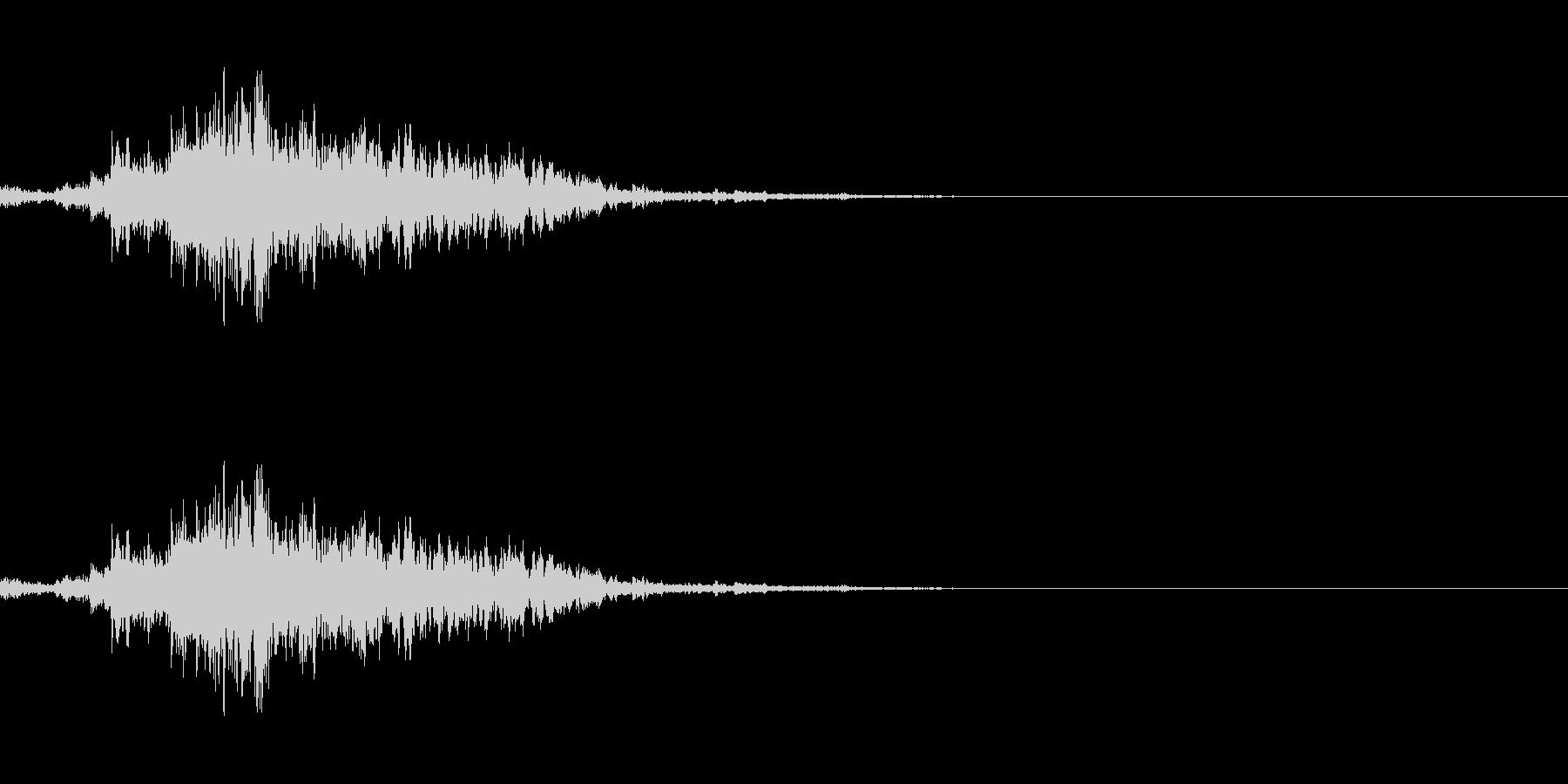 神楽鈴 ワンショットの未再生の波形