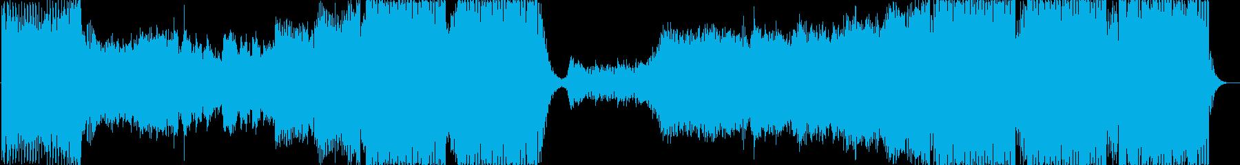 爽やかで疾走感のある洋楽風EDMの再生済みの波形