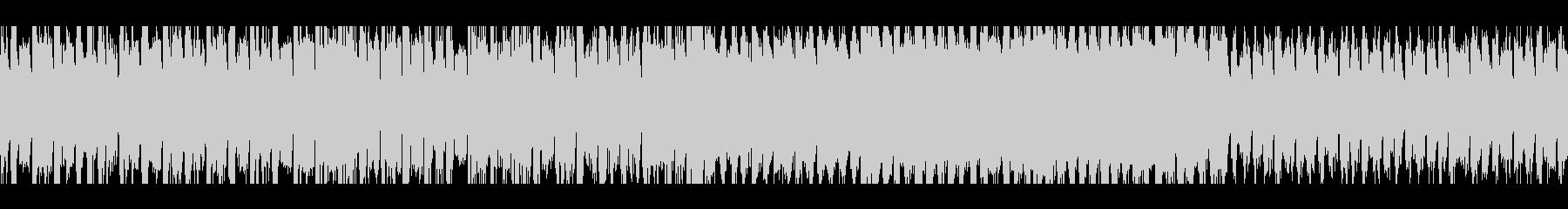 明るい雰囲気のアップチューンのEDMの未再生の波形