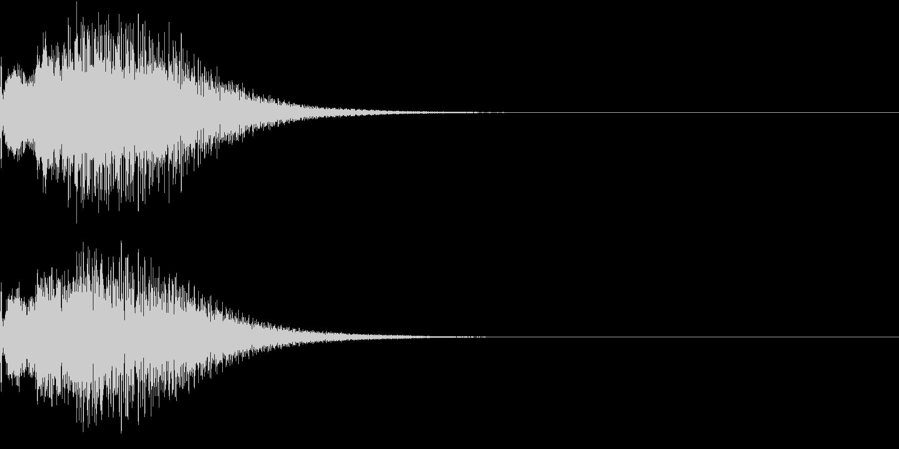 光 キュイン 目立つ カットイン 02の未再生の波形