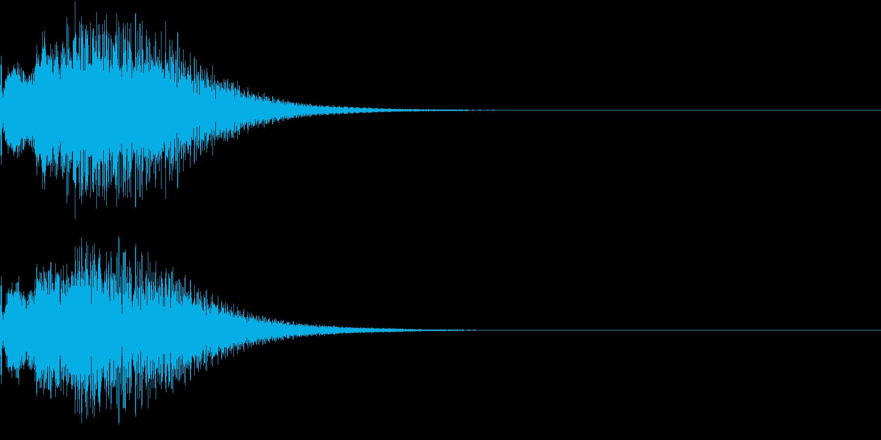 光 キュイン 目立つ カットイン 02の再生済みの波形