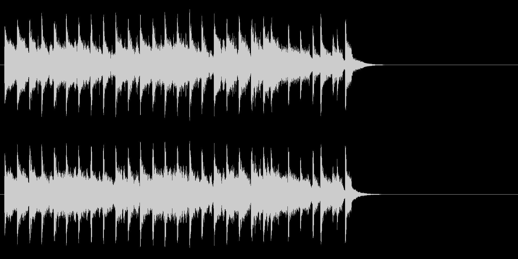 ブリティッシュなポップ(サビ)の未再生の波形