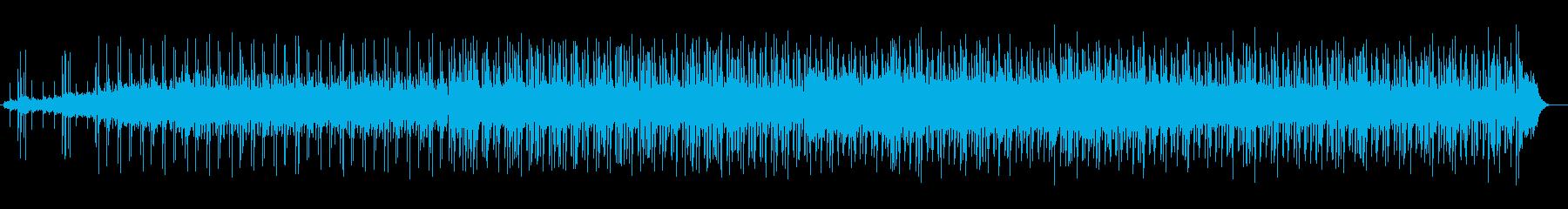 暖かみのあるゆったりシンセサウンドの再生済みの波形