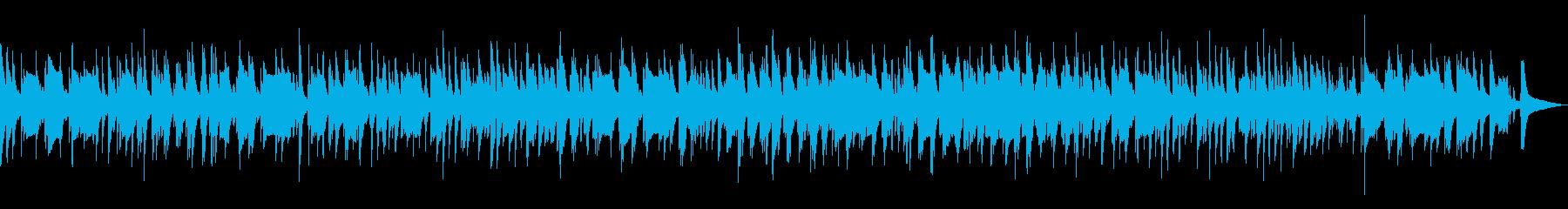 ピアノとベースのジャズラウンジバラードの再生済みの波形