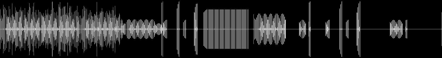 複数のスパークまたはショック、SC...の未再生の波形