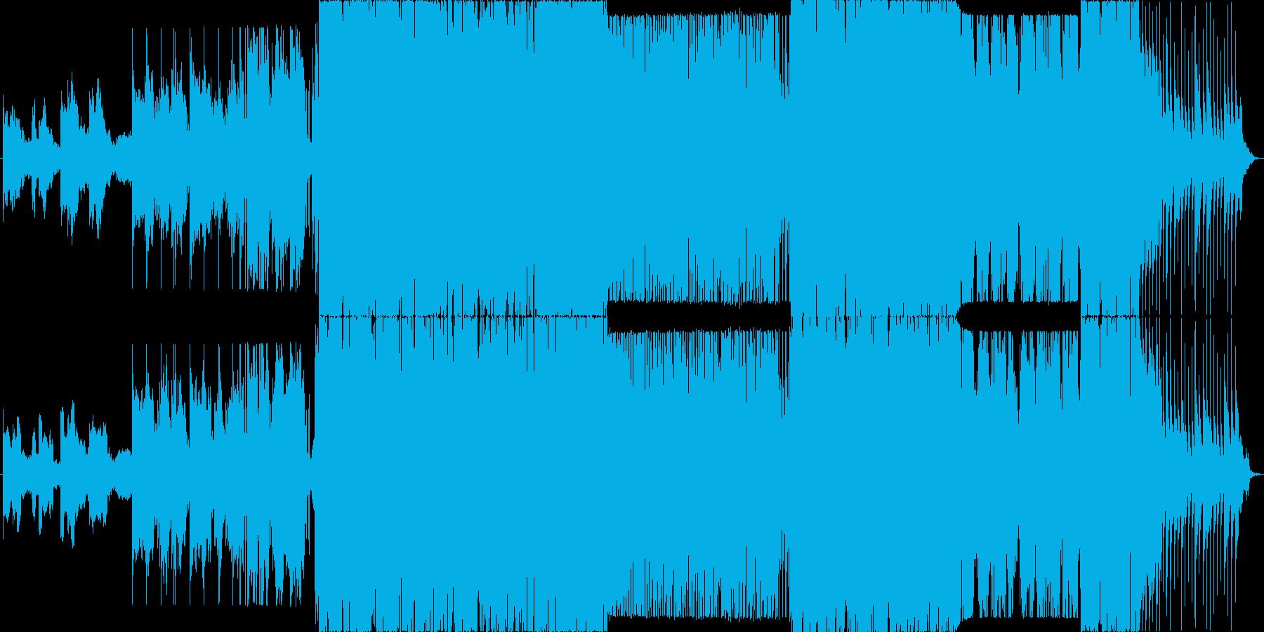 爽やかで疾走感のあるEDM風ポップスの再生済みの波形