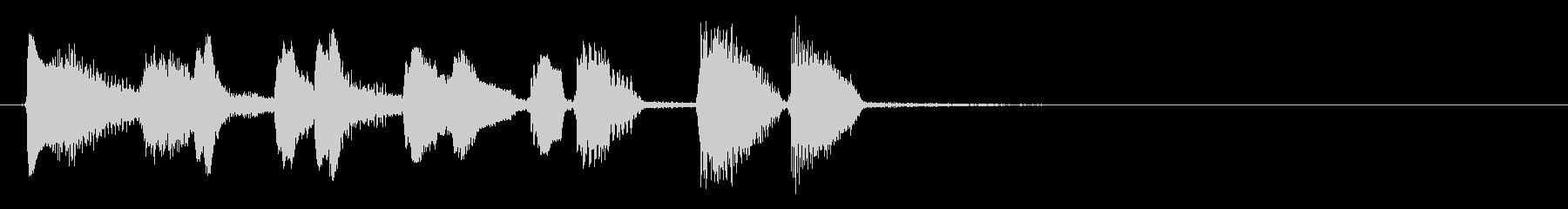 ウクレレとリコーダーの生演奏の5秒BGMの未再生の波形